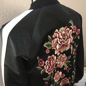 Floral Bomber Jacket • Size M